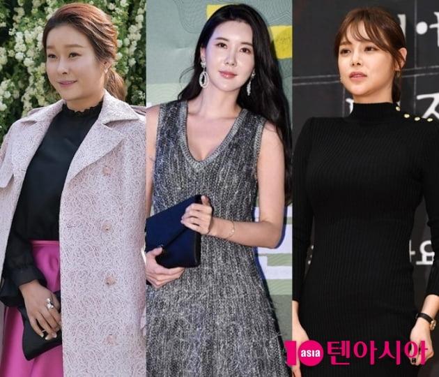 현영(왼쪽부터), 장미인애, 박시연 / 사진=텐아시아DB