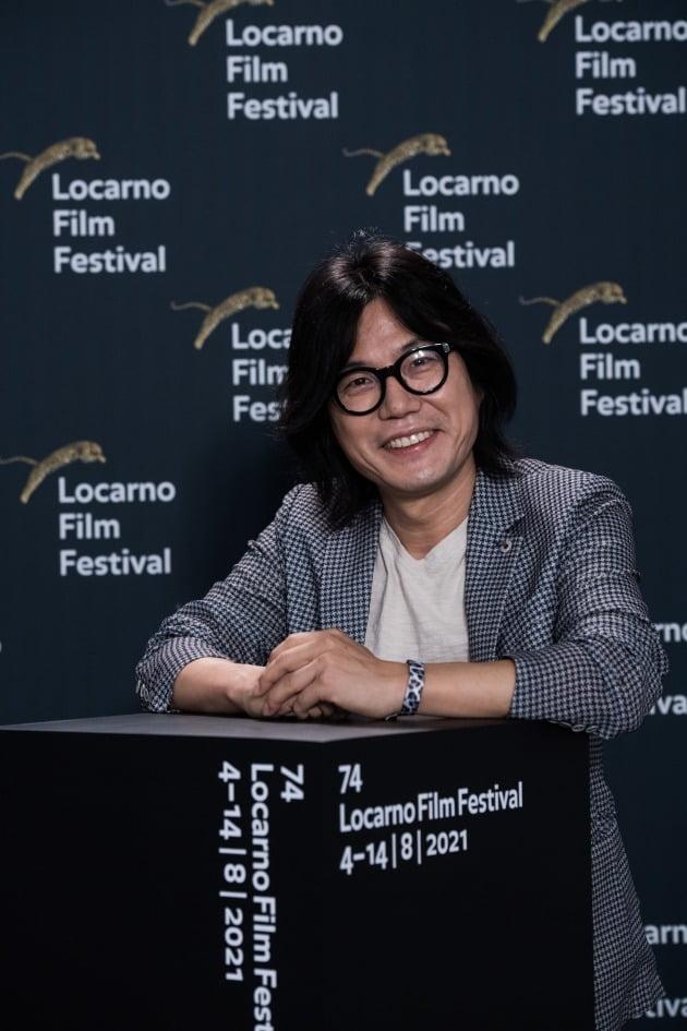 로카르노 국제 영화제에 참석한 영화 '싱크홀'의 김지훈 감독. / 사진제공=로카르노 국제 영화제, Ti-Press