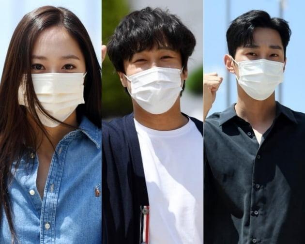 정수정(왼쪽), 차태현, 진영./사진=텐아시아 DB