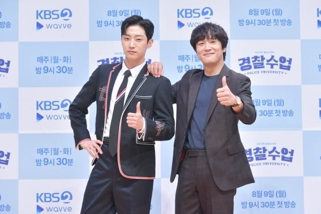 '경찰수업' 진영(왼쪽)과 차태현/ 사진=KBS2 제공