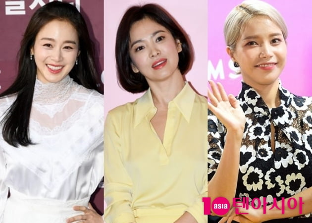 배우 김태희(왼쪽부터), 송혜교, 마마무 솔라/ 사진=텐아시아DB