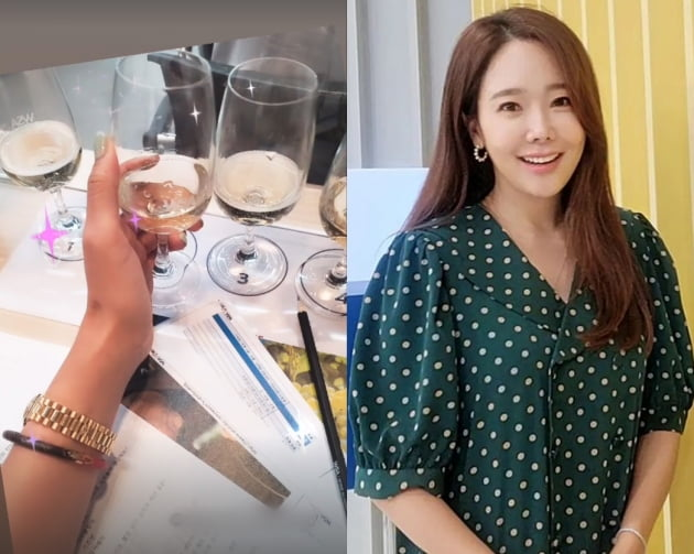 """'백종원♥' 소유진, 명품L사 팔찌 하고 와인클래스 """"샴페인 마시고파"""" [TEN★]"""