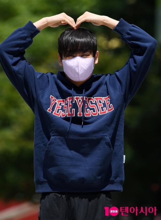 [TEN 포토] 박재정 '여라분 사랑합니다'