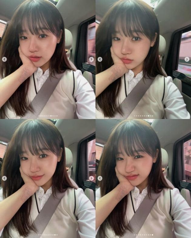 위키미키 최유정, 교복 입고 뽐낸 청순미모...상큼 발랄[TEN★]
