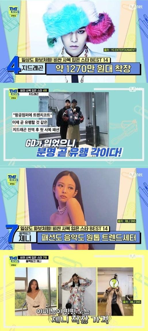 'TMI 뉴스' 사복 순위/ 사진=Mnet 캡처