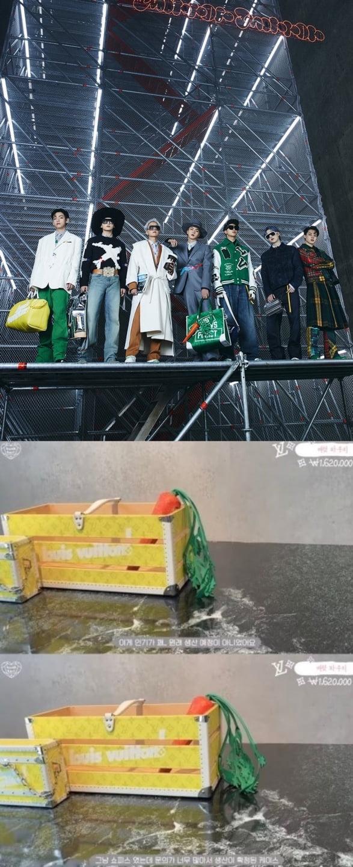 방탄소년단 진, 루이 비통 패션쇼 소품 당근파우치를 기성품으로 만들어 버리는 마켓파워