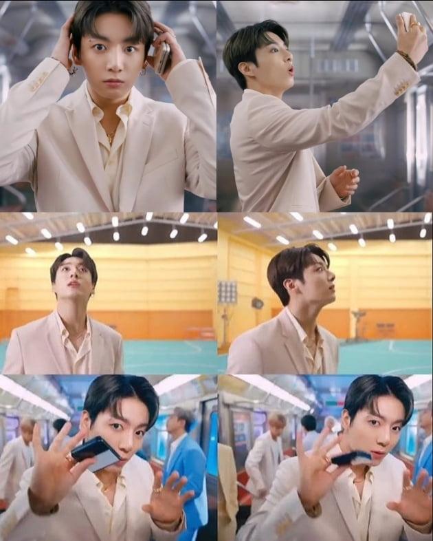 방탄소년단 정국, 휴대폰 광고에서 선보인 구매욕 자극하는 '리얼·섬세' 명품 연기력