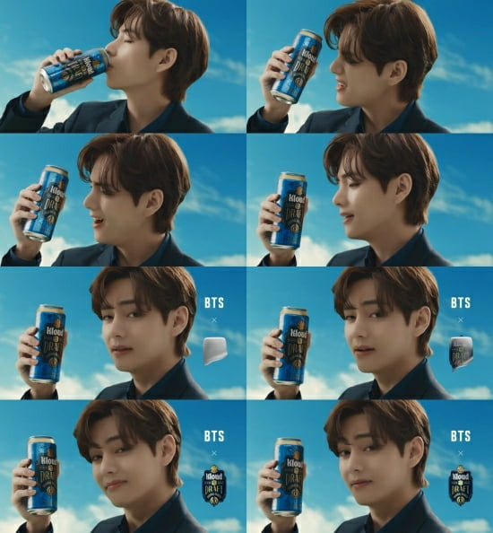"""방탄소년단 뷔, 맥주 광고 개인영상 최초 100만 돌파 """"술안 마셔도 취한 느낌"""""""
