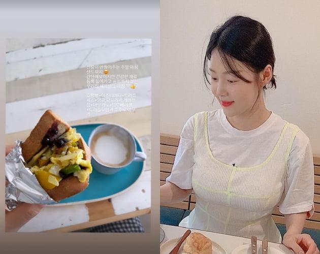 """한지혜, ♥검사 남편이 최고급 식재료 트러플로 만들어준 샌드위치 """"풍미"""" [TEN★]"""