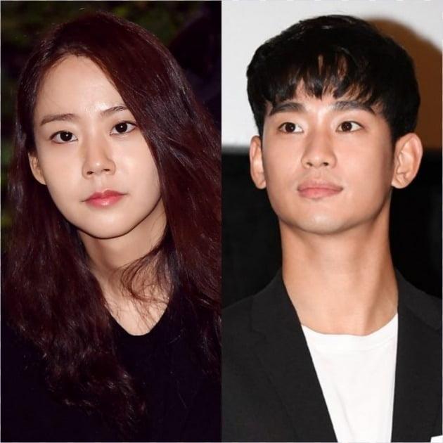 배우 한승연(왼쪽), 김수현./사진=텐아시아 DB