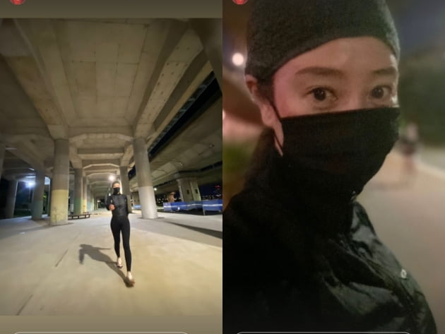 '52세' 김혜수, 달밤에 운동...나노 각선미[TEN★]