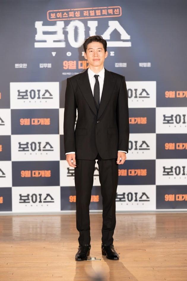 배우 김무열이 19일 열린 영화 '보이스' 온라인 제작보고회에 참석했다. / 사진제공=CJ ENM