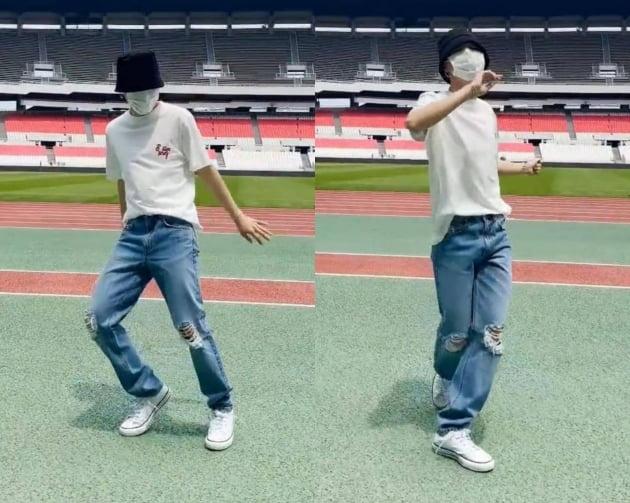방탄소년단 지민, 'PTD'댄스로 꽉 채운 올림픽 주경기장...틱톡도 핫인기
