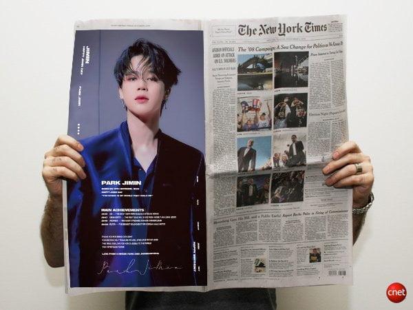 방탄소년단 지민 中팬덤 역대급 생일 축하, 美뉴욕타임즈 →英더 타임즈 세계 아이돌 최초 전면광고