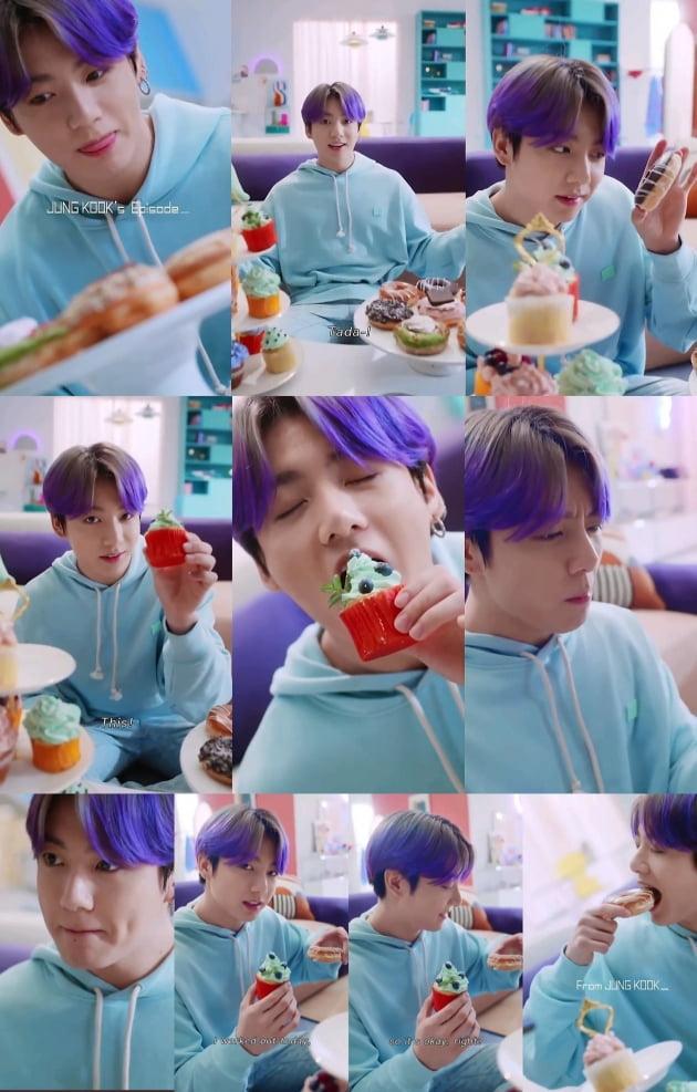 방탄소년단 정국 '명품 연기력' 케이크 하나로도 러블리 달달美' 폭발