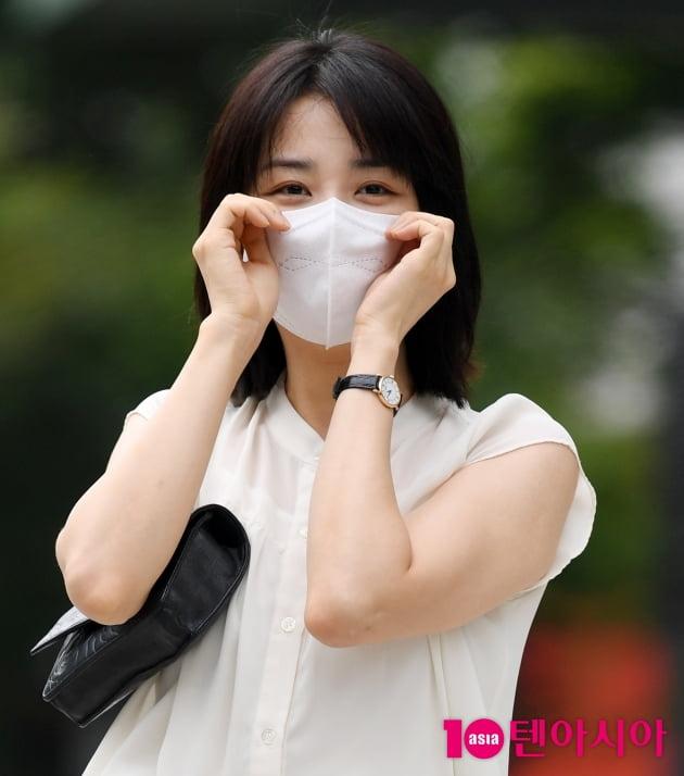 [TEN 포토] 박하선 '류수영이 반한 볼하트'