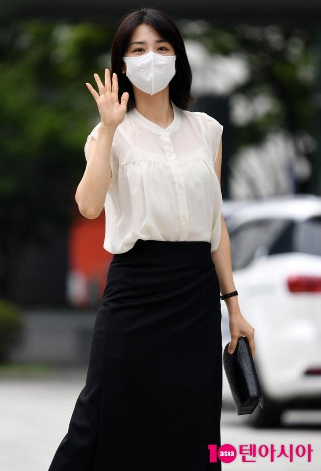 [TEN 포토] 박하선 '러블리 인사'