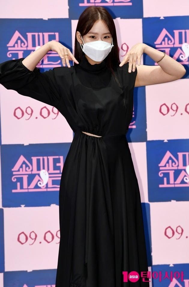 그룹 카라 출신 한승연이 26일 열린 영화 '쇼미더고스트' 언론시사회에 참석했다. / 사진=조준원 기자 wizard333@