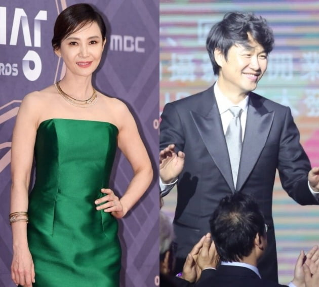 배우 채시라(왼쪽), 김태욱 아이패밀리SC 대표./사진제공=텐아시아DB, 아이패밀리SC