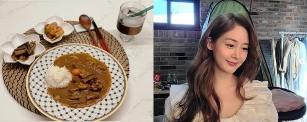 '쌍둥이 임신' 성유리, 남편없이 혼밥중?...금손 요리실력도 닮겠네[TEN★]