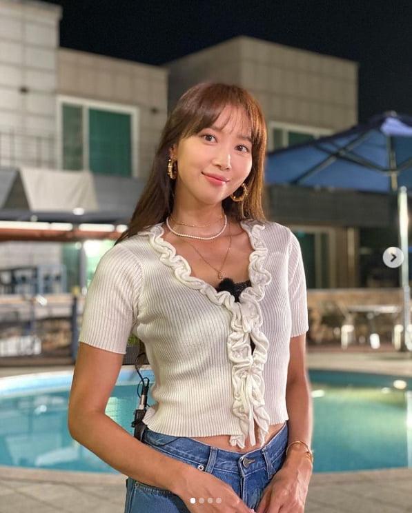 '170cm·44사이즈' 오윤아, 싱글맘의 완벽한 청바지 핏[TEN★]