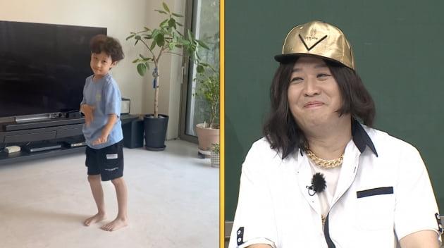 '아는 형님' 정준하(오른쪽)의 아들 로하/ 사진=JTBC 제공