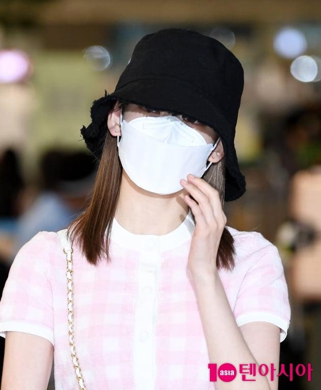 [TEN 포토] 미야와키 사쿠라 '벙거지 모자로 귀엽게'