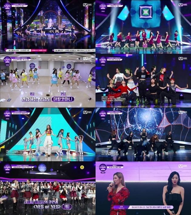사진=Mnet '걸스플래닛999' 방송 화면.