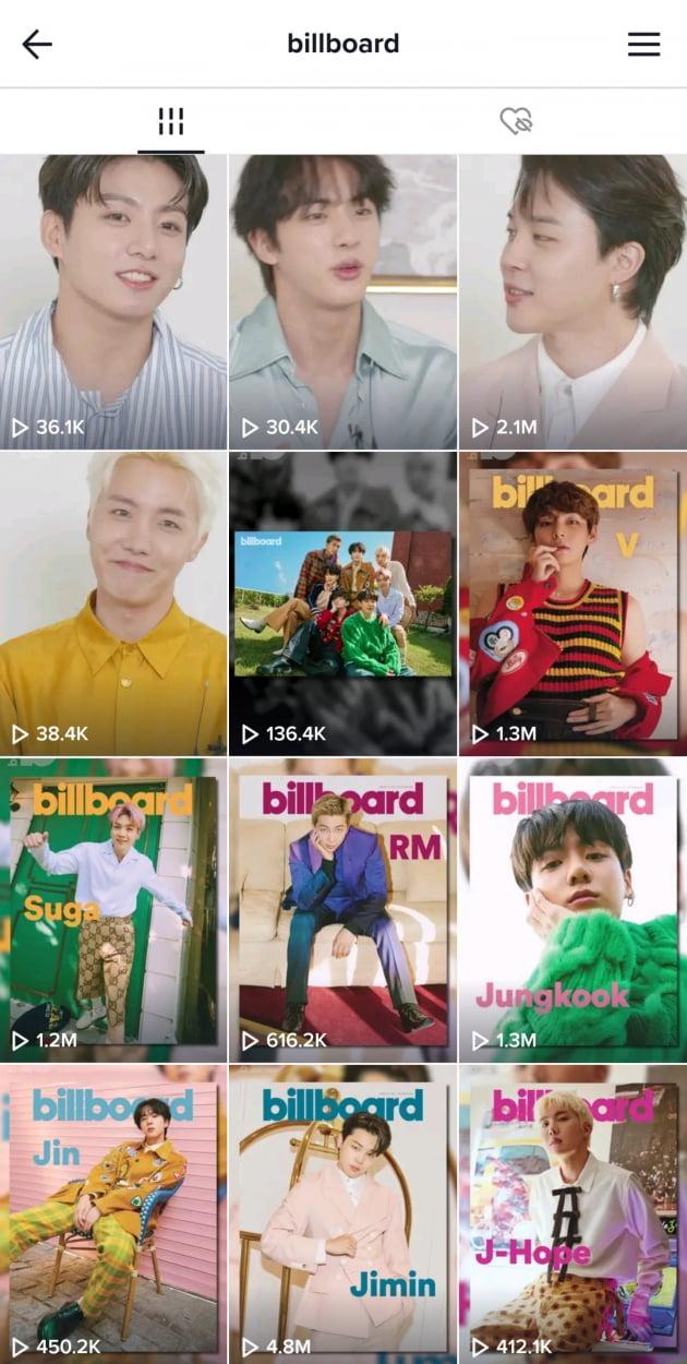 방탄소년단 지민, Billboard TikTok 공식 영상 480만회 재생...'랭킹1위 짐메리카 명성'