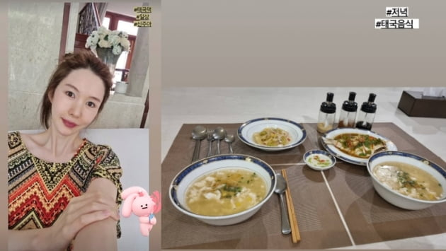 '태국재벌♥' 신주아, 오늘 저녁은 태국음식...럭셔리한 셋팅[TEN★]