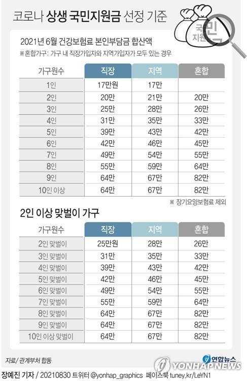 """국민지원금 지급기준 완화 """"고액자산가 제외 2천18만가구 대상""""(종합)"""