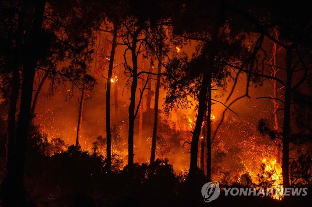 남유럽 전역에 산불…터키서 8명 사망·이재민 수천명 발생