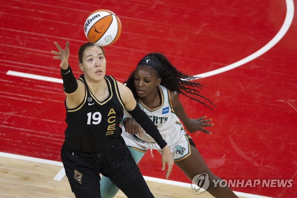 WNBA 박지수, 도쿄올림픽 후 첫 출전…팀은 4연승 달성 실패