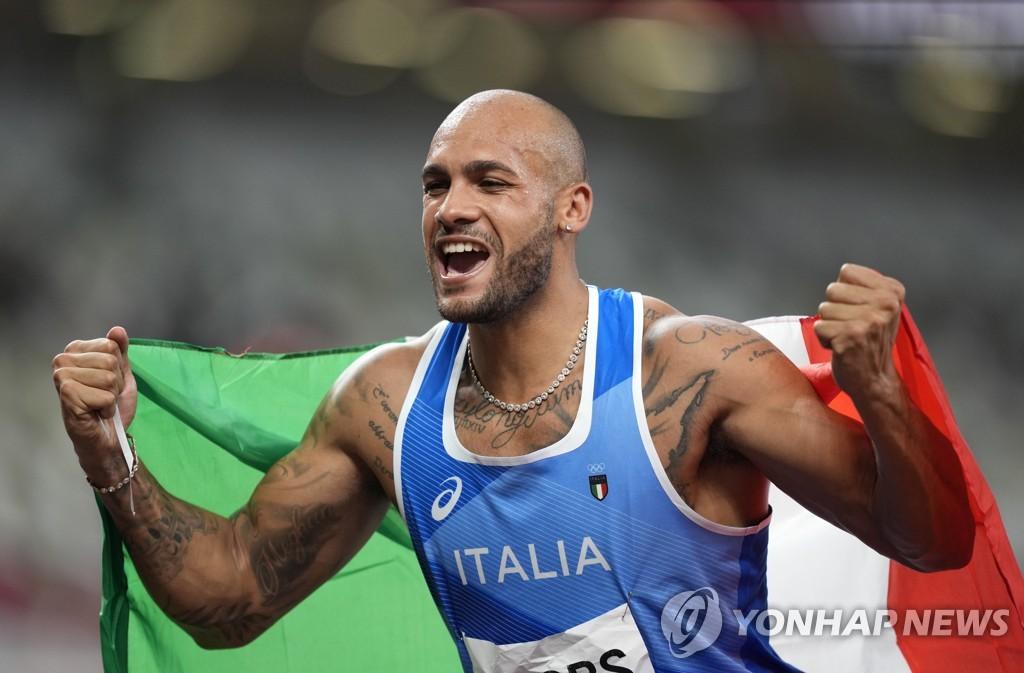 -올림픽- 제이컵스, 이탈리아 사상 첫 육상 100m 金…9초80