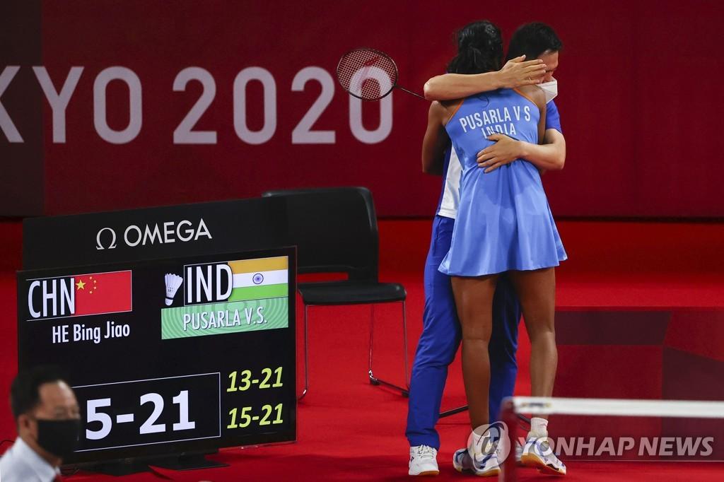 -올림픽- 한국인 코치 지도받는 신두, 배드민턴 여자단식 동메달