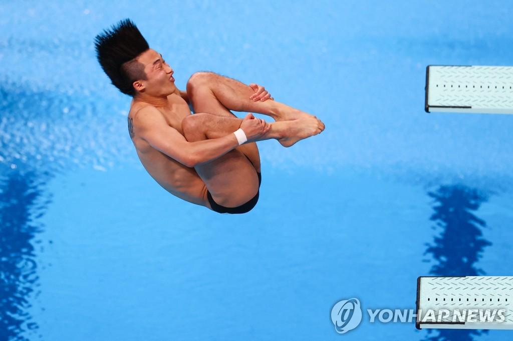 -올림픽- 다이빙 첫 메달 도전 우하람, 3m서 5위로 준결승행(종합)
