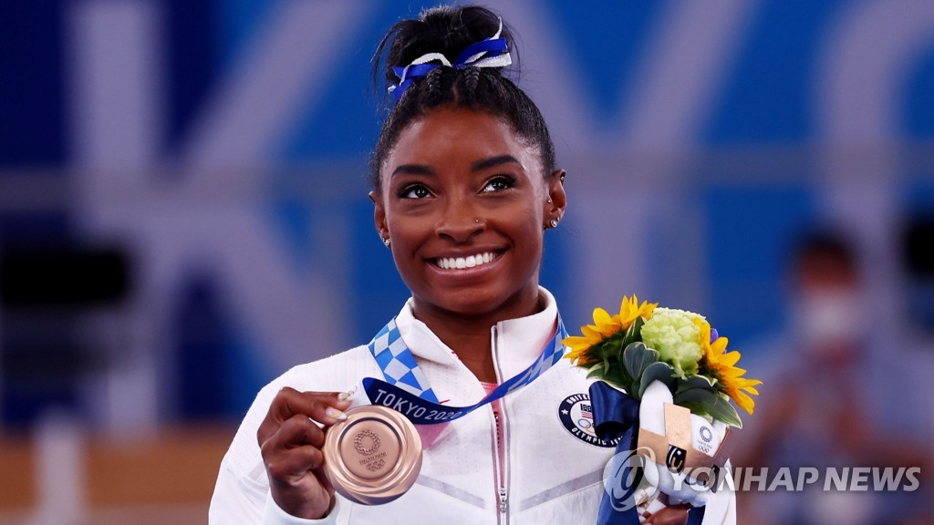-올림픽- 중압감 이겨낸 '체조여왕' 바일스, 평균대서 값진 동메달