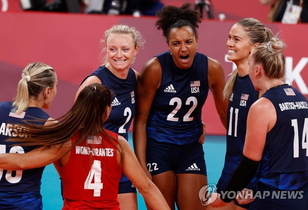 -올림픽- 세계 1위 미국, 세르비아 완파하고 여자배구 결승 선착