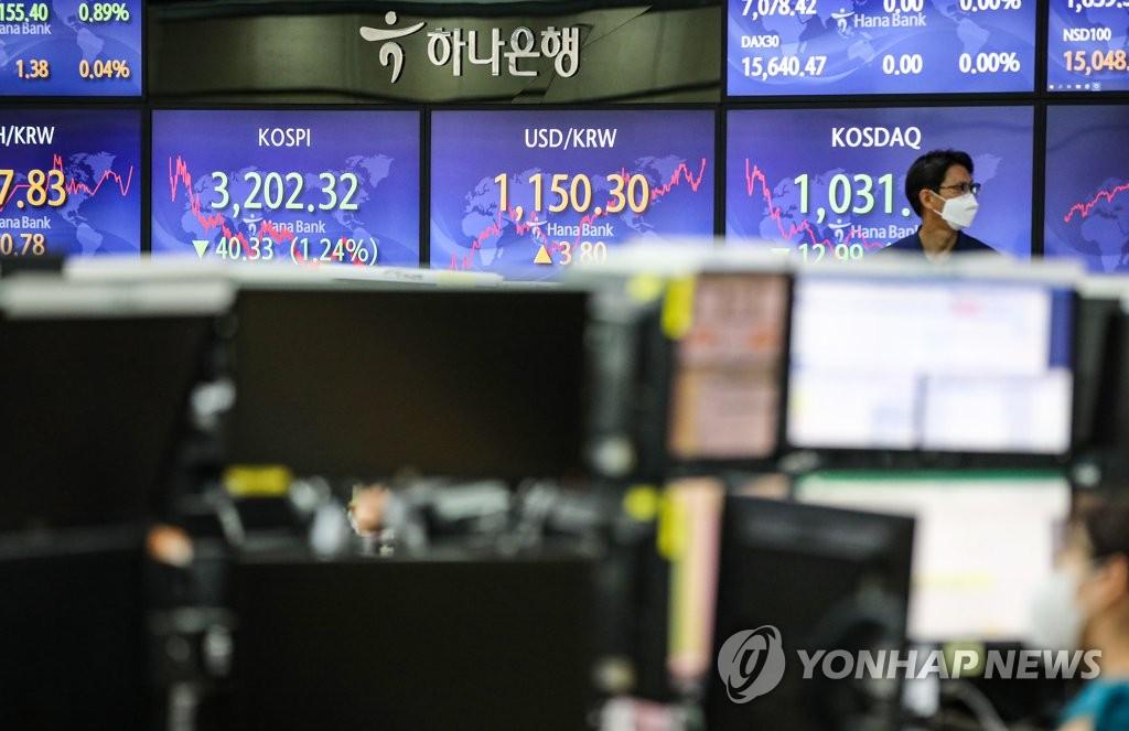 외국인 주식 '팔자'…유가증권시장 시총 비중 5년만에 최저