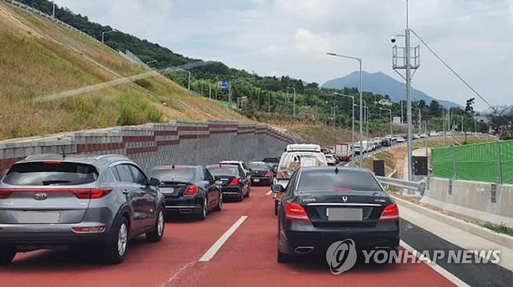 창원 지개∼남산 민자도로 개통하자마자 '병목현상'