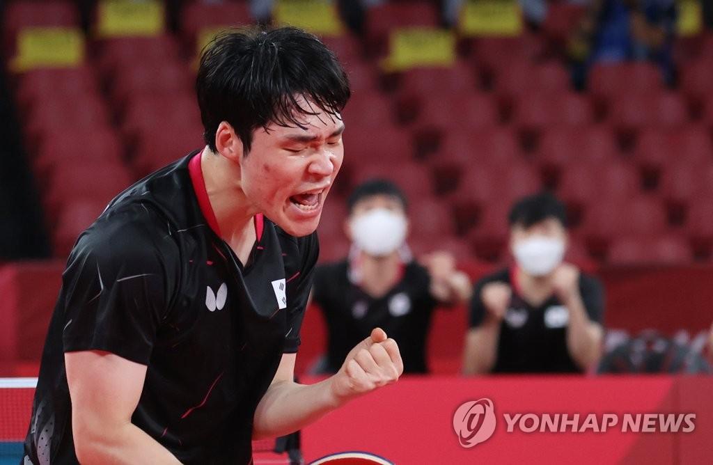 """[올림픽] '메달까지 1승' 기세 오른 남자탁구 """"중국, 이겨볼게요"""""""