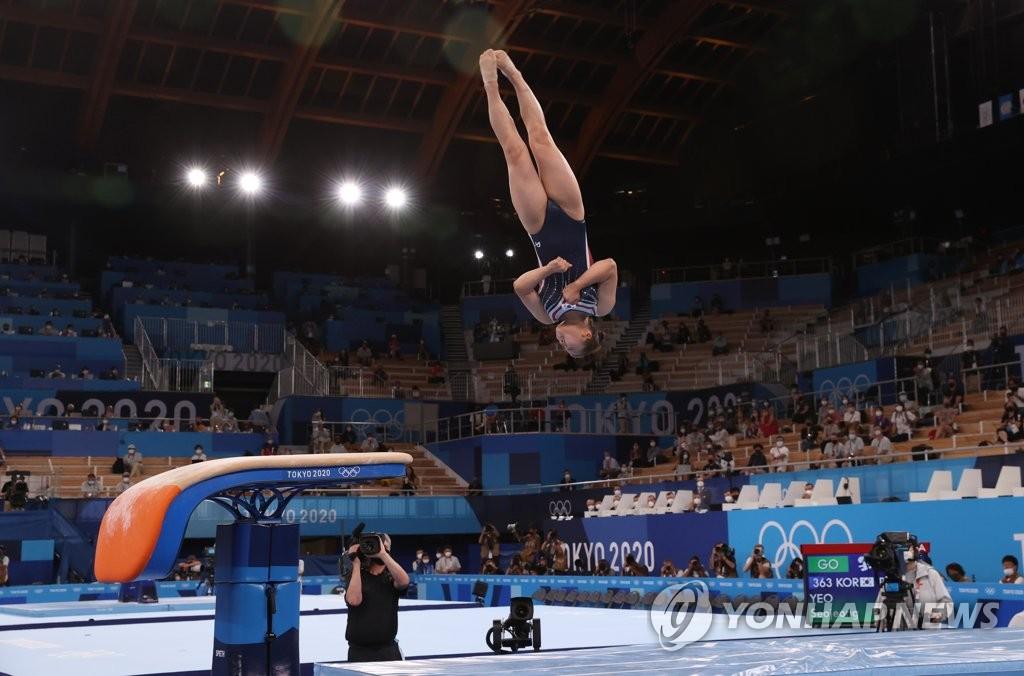 -올림픽- 여서정 도마 동메달…한국 최초 '부녀' 메달리스트 새 역사(종합2보)