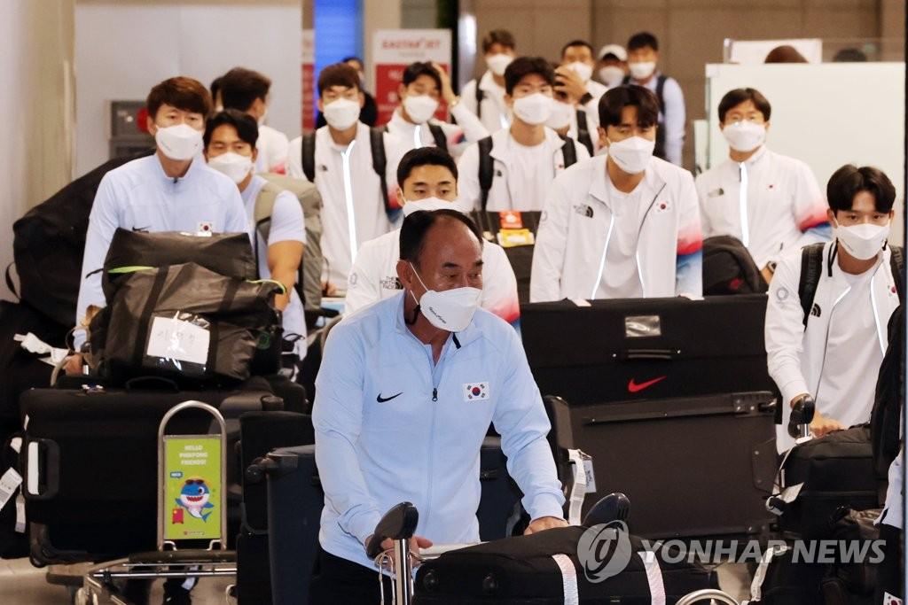 [올림픽] 8강서 도전 멈춘 김학범호…팬들 격려 속 조용히 귀국