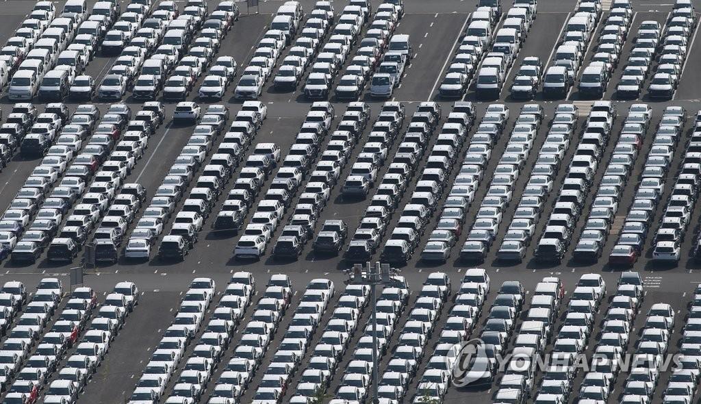 반도체 수급난에 7월 車 생산·내수·수출 '후진'