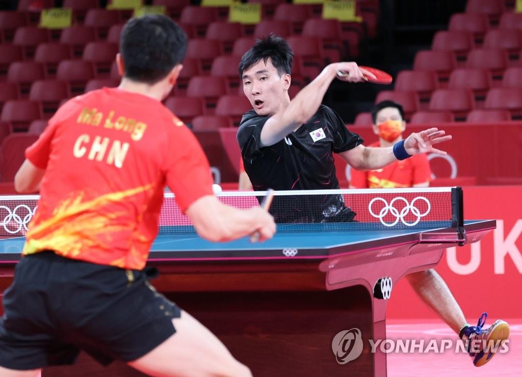 """[올림픽] '최강' 마룽과 접전 펼친 이상수 """"다 보여줬습니다"""""""