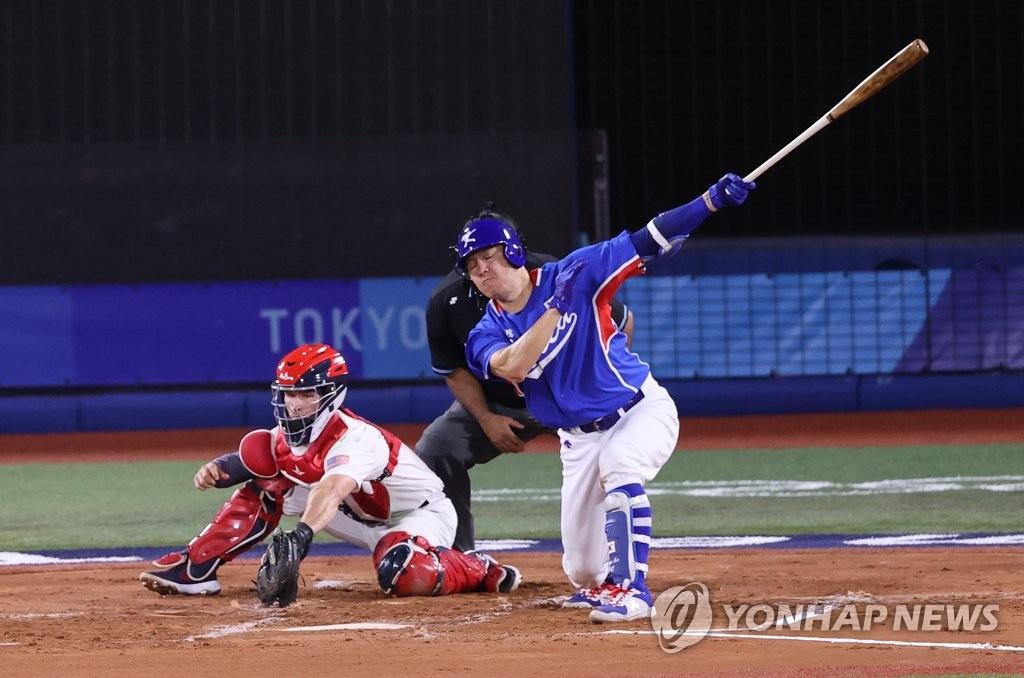 [올림픽] '해결사' 없던 한국 야구, 13년 만의 영광 재현 물거품