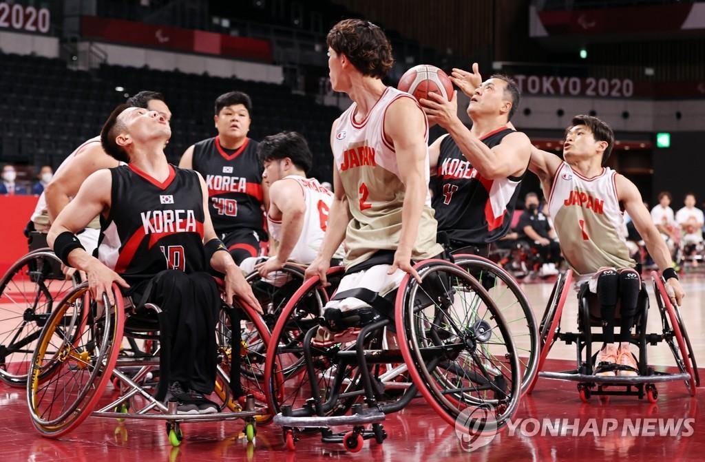 -패럴림픽- 휠체어농구, 한일전서 52-59 패배…조별리그 3연패