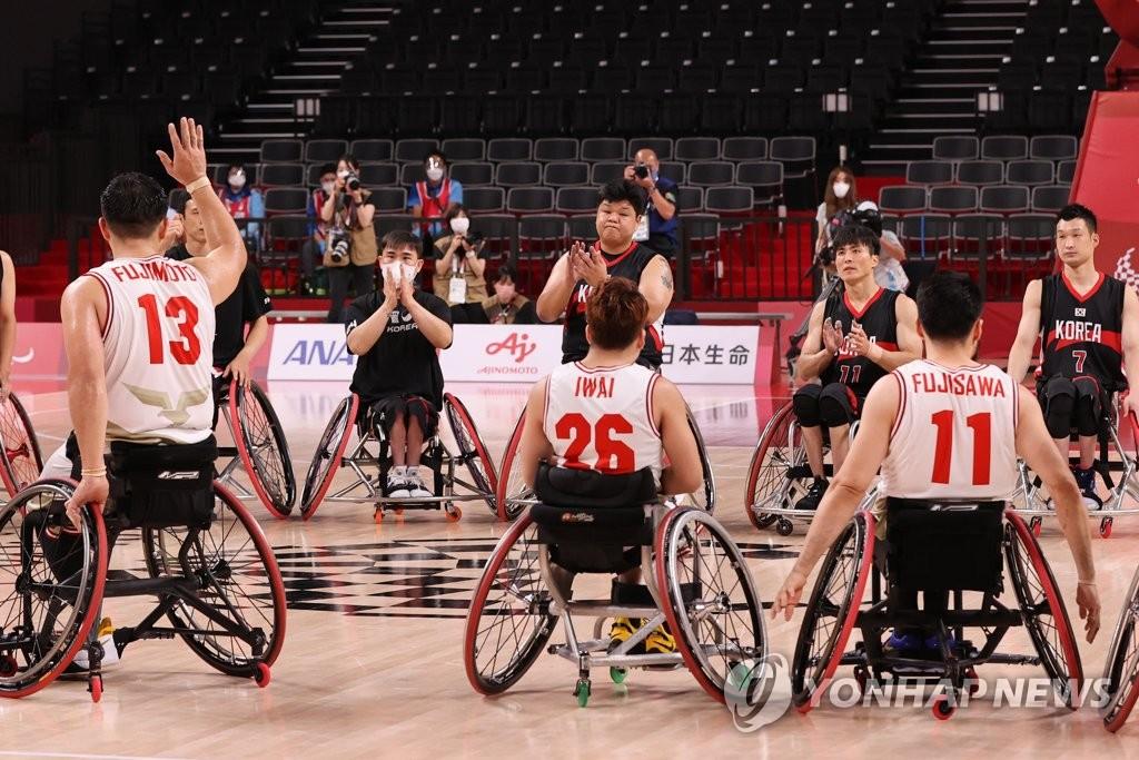 -패럴림픽- 휠체어농구, 한일전서 52-59 패배…조별리그 3연패(종합)