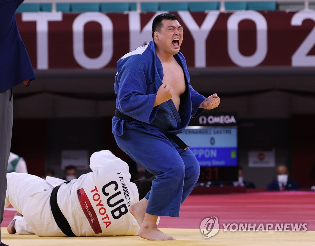 """[패럴림픽] 울컥한 유도 최광근 """"도쿄가 마지막…은퇴 생각하며 준비했다"""""""