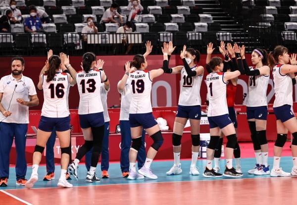 2일 일본 아리아케 아레나에서 열린 도쿄올림픽 여자 배구 A조 조별리그 한국과 세르비아의 경기. / 사진=연합뉴스